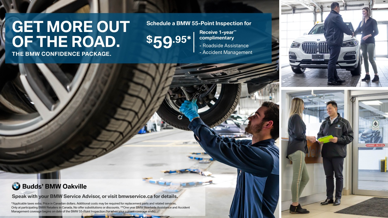 The BMW Confidence Package – 55 Point Inspection for $59.95*